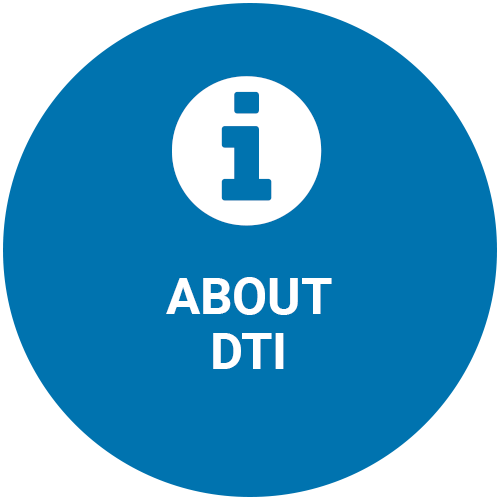 About DTI blue icon