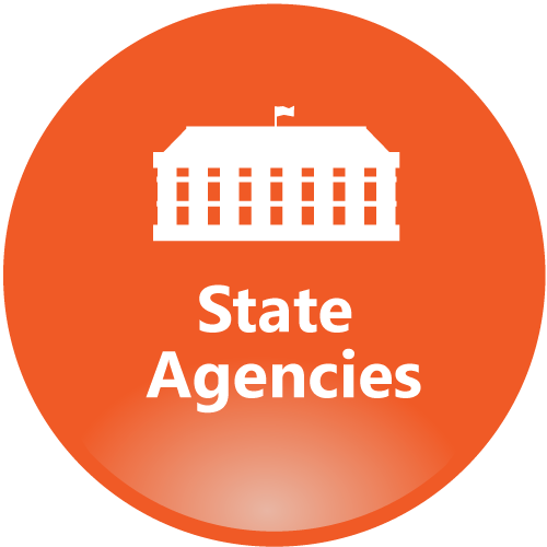 State Agencies orange icon