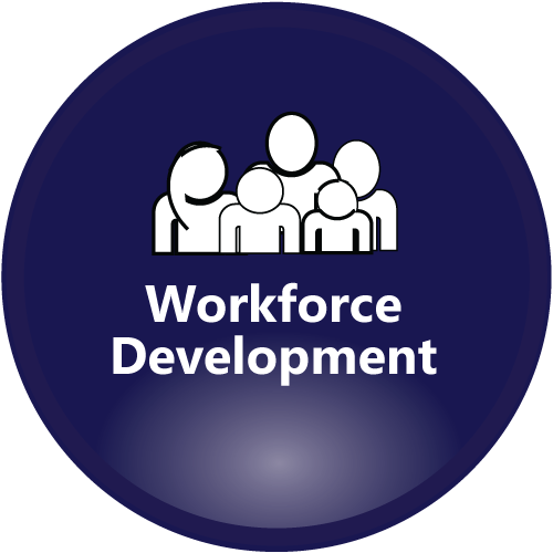 Workforce Development navy icon