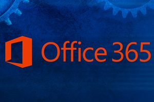 Technology Background with Office 365 text overlay