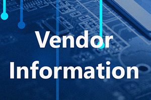 Technology background with Vendor Information text overlay